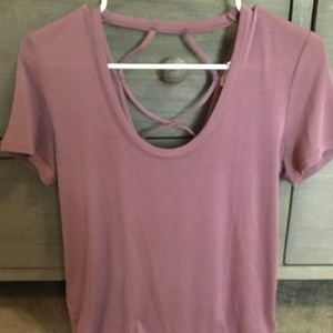 NWT Express short sleeve top with back detail